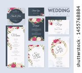 wedding card set template with... | Shutterstock .eps vector #1455768884