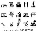 business presentation icons set | Shutterstock .eps vector #145577539