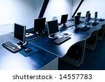 computers in corporate office | Shutterstock . vector #14557783