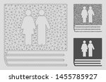 mesh family album model with... | Shutterstock .eps vector #1455785927