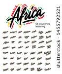 set of typography african... | Shutterstock .eps vector #1455792521