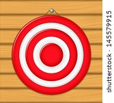 red target on wooden wall | Shutterstock . vector #145579915