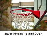 Closeup Of Basketball Hoop With ...