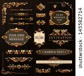 vintage golden calligraphic... | Shutterstock .eps vector #145582714