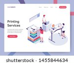 landing page template of... | Shutterstock .eps vector #1455844634