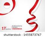 17 august 1945  happy indonesia ... | Shutterstock .eps vector #1455873767