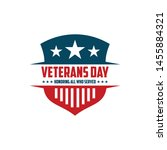 design vector template veterans ... | Shutterstock .eps vector #1455884321