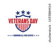 design vector template veterans ... | Shutterstock .eps vector #1455884414