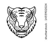 tiger illustration with line... | Shutterstock .eps vector #1455902024