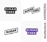 set of sugar free label... | Shutterstock .eps vector #1455902501