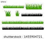 set of isolated green grass... | Shutterstock .eps vector #1455904721