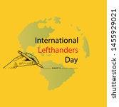 international lefthanders day....   Shutterstock .eps vector #1455929021