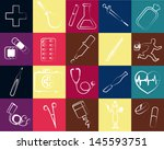 medical set | Shutterstock .eps vector #145593751