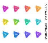 set of labels number button... | Shutterstock .eps vector #1455958277
