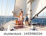 mother and children on luxury... | Shutterstock . vector #1455980234