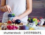 female hands are preparing... | Shutterstock . vector #1455988691