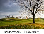 Autumn Golf Course In The...