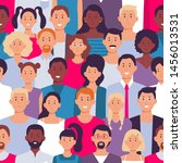 people crowd pattern. young... | Shutterstock .eps vector #1456013531