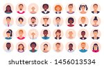 people avatar. smiling human... | Shutterstock .eps vector #1456013534