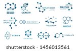 hexagonal molecule badge.... | Shutterstock .eps vector #1456013561