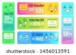 smiling promo voucher. happy...   Shutterstock .eps vector #1456013591