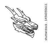 dragon illustration with line... | Shutterstock .eps vector #1456050611
