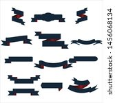 navy blue and red ribbon set... | Shutterstock .eps vector #1456068134