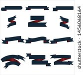 navy blue and red ribbon set... | Shutterstock .eps vector #1456068164