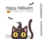 halloween greeting card with a... | Shutterstock .eps vector #1456082231