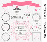 Vector Set Of Valentine's Day...