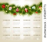 2014 new year calendar ... | Shutterstock . vector #145609771