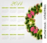 2014 new year calendar  ... | Shutterstock . vector #145609861