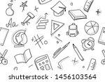 back to school pattern... | Shutterstock .eps vector #1456103564