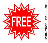 free sign label in red star...