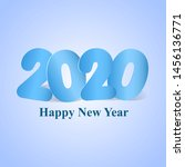 happy new year 2020 funny...   Shutterstock .eps vector #1456136771