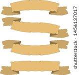 copper ribbons set old vintage... | Shutterstock .eps vector #1456137017