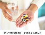 take a medicine health care and ... | Shutterstock . vector #1456143524