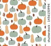 autumn seamless pattern.... | Shutterstock .eps vector #1456150994