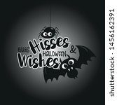 bugs hisses and halloween... | Shutterstock .eps vector #1456162391