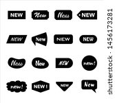 sticker labels for new products  | Shutterstock .eps vector #1456173281