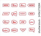 sticker labels for new products  | Shutterstock .eps vector #1456173284
