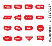 sticker labels for new products  | Shutterstock .eps vector #1456173287