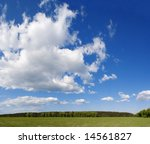 green field and the cloudy sky | Shutterstock . vector #14561827