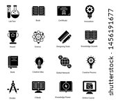 set of education solid icons   | Shutterstock .eps vector #1456191677