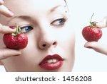 beauty portrait of girl with... | Shutterstock . vector #1456208