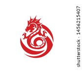 dragon of fire logo template | Shutterstock .eps vector #1456215407