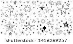 set of hand drawn stars. doodle ...   Shutterstock .eps vector #1456269257