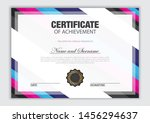 elegant certificate template...   Shutterstock .eps vector #1456294637