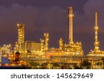 twilight and cloudy on factory | Shutterstock . vector #145629649