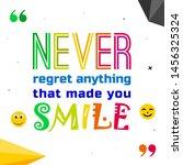 vector illustration of quote.... | Shutterstock .eps vector #1456325324